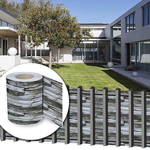 HG® 35mx19cm Sichtschutzfolie PVC Rolle Sichtschutz UV-bestädig inkl. Befestigungsclips für Einzel- und Doppelstabmatten geeignet