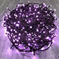 KAQ- 82FT 200LED Extendable Halloween Lights Indoor/Outdoor, Waterproof 8 Modes Christmas Lights, Green Wire Fairy Starry String Lights Plug in for Xmas Tree Garden Patio Wall Decor (Purple Color)