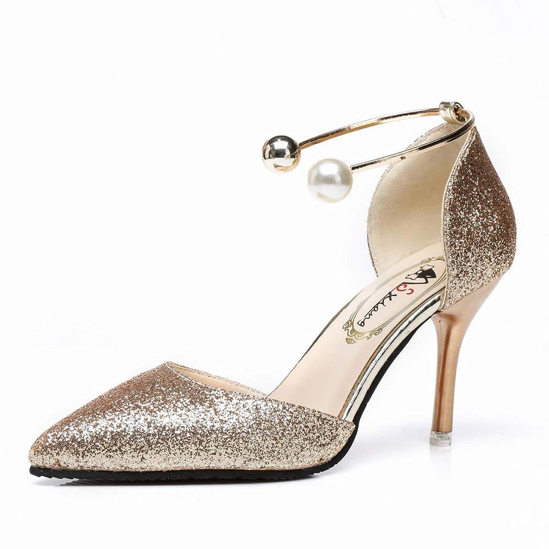 [RIW0ILND] ハイヒール ウェディングシューズ レディース グリッター 真珠 履き心地よい ストラップ ポインテッドトゥ ピンヒール 女子会 フォーマル 結婚式 エレガント パンプス 痛くない