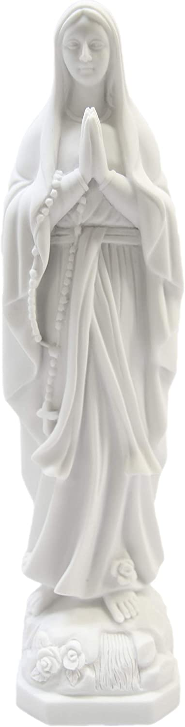 11.5 Inch Our Fees free Max 81% OFF Lady of Lourdes Vittor Figurine Mary Virgin Statue
