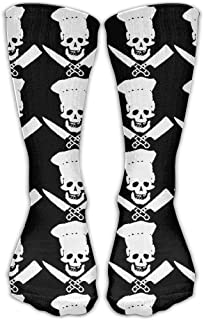 Womens Skull-Chef Cooking Skull Sports Cool Stockings Stocks 11.81in Long Sock One Size