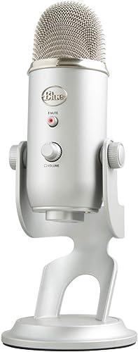 Microfone Condensador USB Blue Yeti com 4 Padrões de Captação e Conexão Plug and Play para Podcast, Gravação e Stream...