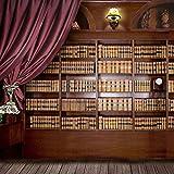 Yame 5x7ft Vinyl Digital Study Room Bookshelf Library Photography Studio Backdrop Prop Background