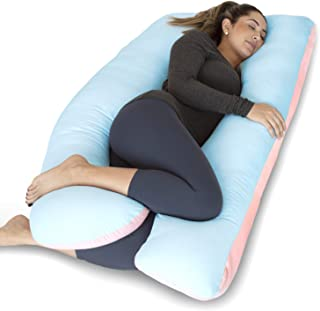 PharMeDoc Pregnancy Pillow, U-Shape Full Body Pillow and Maternity Support - Support for Back, Hips, Legs, Belly for Pregnant Women