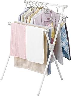 アイリスオーヤマ 洗濯物干し 室内物干し コンパクト収納 タオルハンガー付き 軽量 約2人用 幅約70×奥行約49×高さ約100cm X-700VR