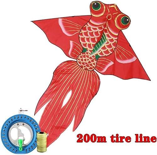 TYD.L Drachen J-106 Brise Leicht Zu Fliegen Langlebig Kind Erwachsener Anf er Goldfisch Drachen Verwendet Für Im Freien Park Strand Geschenk 160  15cm Leitungsl e 200M (Farbe   C)