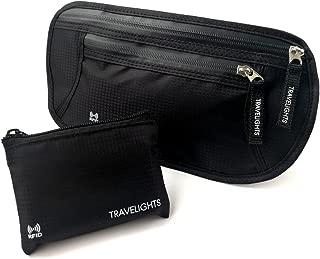 TRAVELIGHTS ウエストポーチ 海外旅行に便利なコインケース付 マネーベルト iPhone収納可能