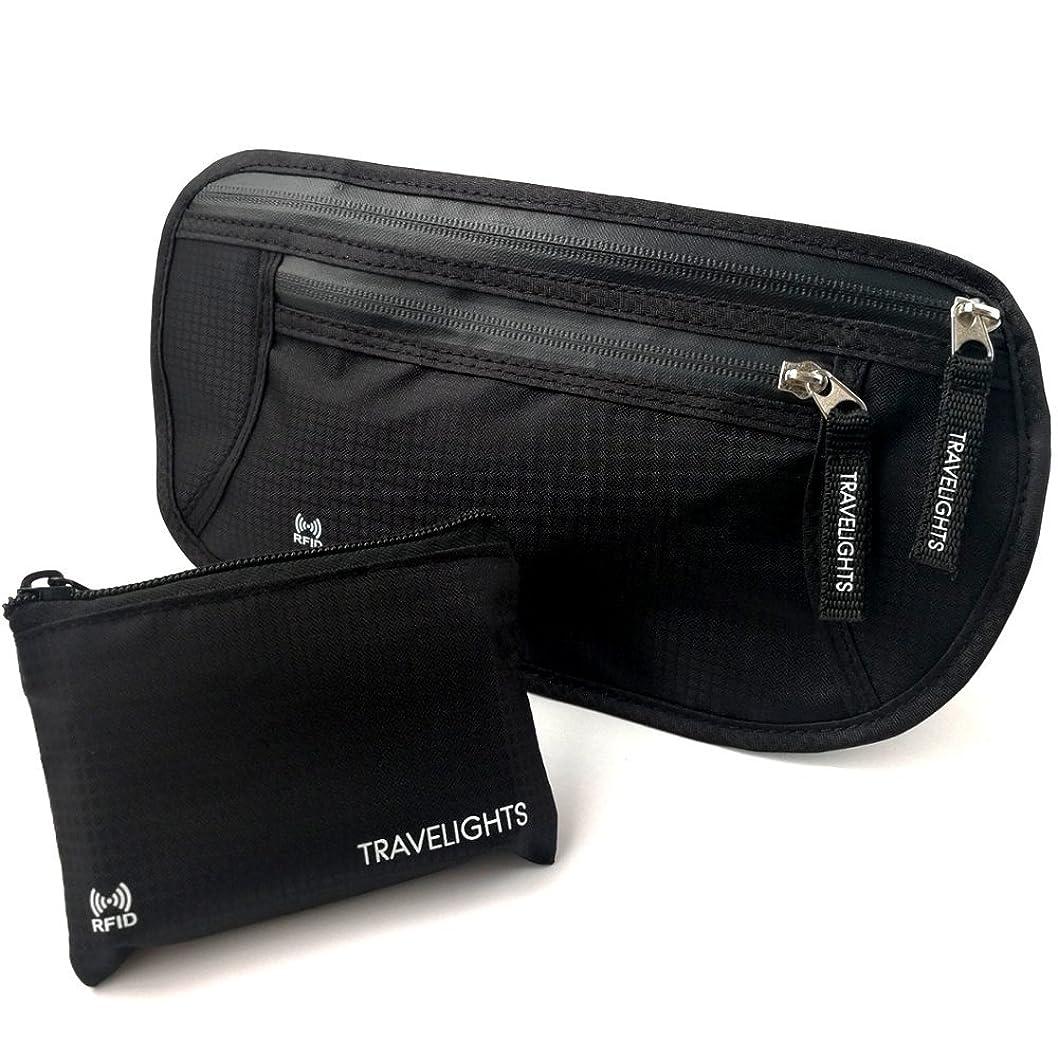 合法矢印みすぼらしいTRAVELIGHTS ウエストポーチ 海外旅行に便利なコインケース付 マネーベルト iPhone収納可能