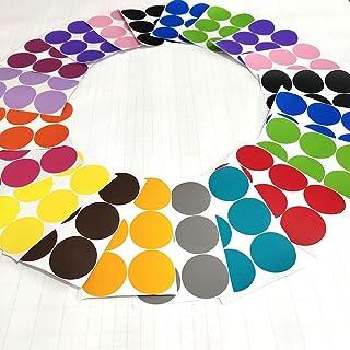 RUYU 90 PCS mezcló 15 Colores del Arco Iris Lunares de Etiquetas de la Pared Etiqueta de Estar de decoración de Interior (Color : Multi Size : 25mm)