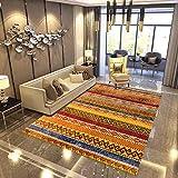 Alfombras De Diseño Moderno para Salón, Alfombra Antideslizante Tamaño Grande Alfombra De Interior Delgada Lavable,Orange,120 * 160
