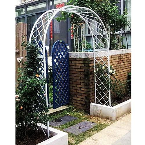 CCLLA Arco de jardín de Metal Resistente, cenador de jardín de Tubo de Acero galvanizado de 20 mm para Plantas trepadoras de Rosas/Blanco / 2,6 m / 8,5 pies