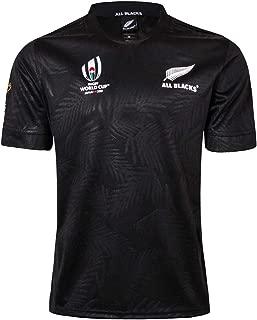 ラグビーワールドカップ2019ニュージーランドオールブラックスラグビーユニフォーム(レプリカジャージ)ホーム/アウェイ/トレーニングスーツ,ホワイト/ブラック/ブルー