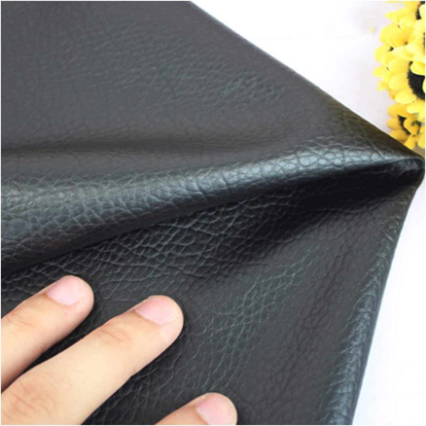 MAGFYLY Leather Material Sale Special quality assurance Price Fabric Litchi Faux Black