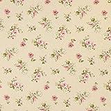 Fabulous Fabrics Halbpanama natur, Blume, 140cm breit –