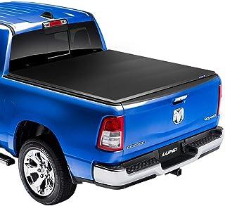 Lund Genesis Elite Tri-Fold, Soft Folding Truck Bed Tonneau Cover | 95880 | Fits 2004 - 2012 GM/Chevy, Canyon/Colorado 5' ...