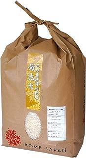 九州熊本の新米 精白米 化学肥料 除草剤不使用 EM農法 菊池米 5kg 令和元年産