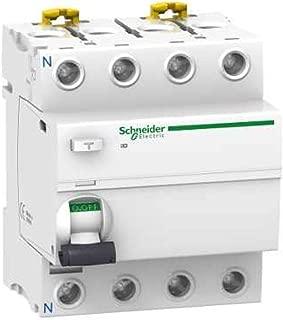 Blanc 50/A courant acti9 85/mm hauteur x 72/mm largeur x 78.5/mm profondeur Schneider electric a9/F94450/iC60L disjoncteur 4P 50//60/Hz Courbure C