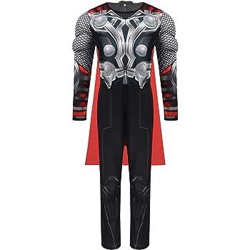 IEFIEL Disfraz Marvel Avengers para Niños Disfraz Thor Niño Mono ...