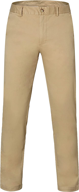 YUCENFU Big Boys Straight Fit Uniform Pants Max 42% Quality inspection OFF Ch Cotton Front Flat