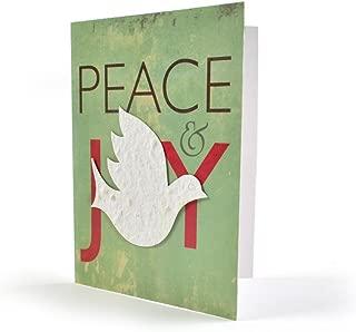 Bloomin Seeds N' Greetings Cards - Handmade Seed Paper -Peace & Joy {8 Pack}