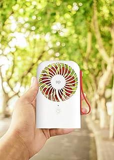 DurationPower Ventilador USB de Mesa Súper silencioso batería Recargable 4000mAh 3 Velocidades (Blanco)