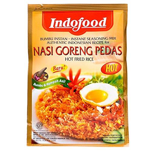 Indofood Nasi Goreng Pedas - immediata a caldo condimento riso fritto, 45 grammi (2 confezioni)