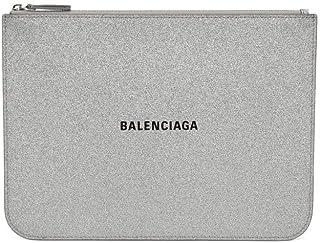 Balenciaga Women's 5796440XV3N8106 Silver Leather Clutch