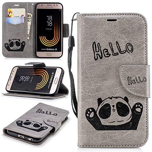 misteem Flip Mignon elegante Panda carcasa para Samsung Galaxy j510J52016 Cobertura de protección de colores, moderno, hace que su teléfono muy bella y creativo. La funda de piel incluye un cierre magnético creativa, una función de soporte de alumi...
