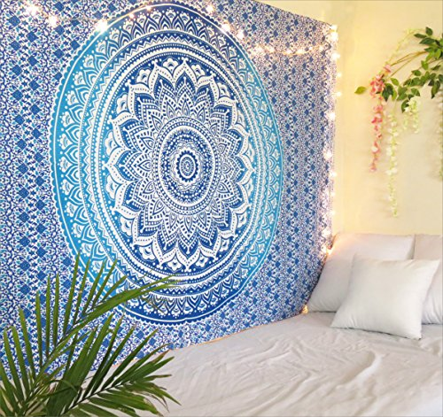 The Art Box Tapestry Blue Mandala Wall Hanging Psychedelic Tapestries Indian Cotton Twin Bedspread Picnic Sheet Wall Decor Blanket Wall Art Hippie Bedroom Decor Buy Online In China At China Desertcart Com Productid
