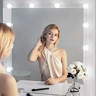 Nicewell Vanity Mirror Lights Dimmable 10 LED Bulbs Makeup Kit USB Power Supply Plug DIY Hollywood Style Adjustable Touch Sensor for Dressing Table Bathroom Wall Mirror Lighting (Mirror not Included)
