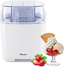Ice Cream Maker, ABsuper 1.5 Quart Ice Cream Machine Sorbet Gelato Maker Frozen Yogurt Machine for Home with Ice Cream Freezer Bowl