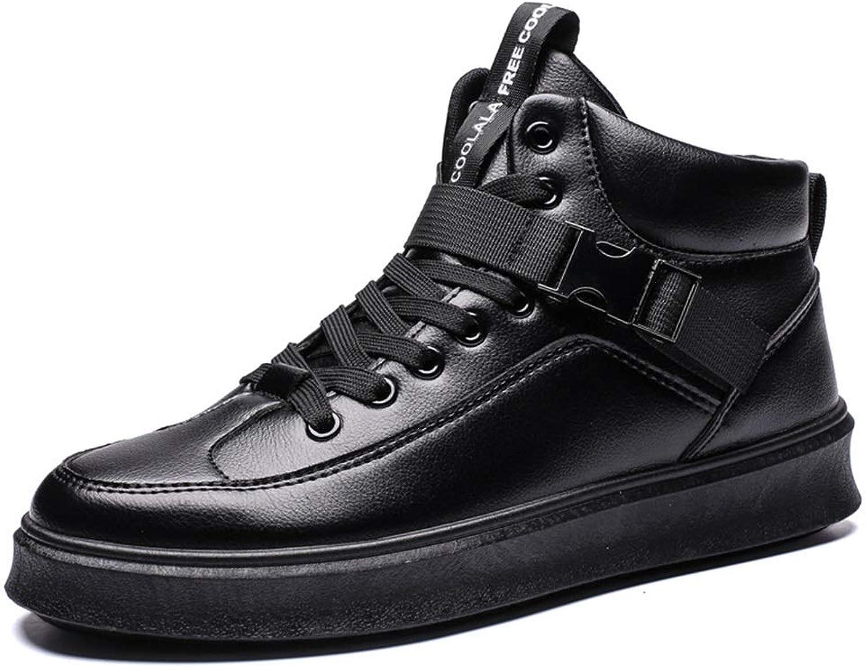 Mans skor Microfiber Fall och Winter Winter Winter High Top Casual skor Buckle Lace Up skor Mode skor utomhus gående skor YAN (färg  C, Storlek  44)  billigare
