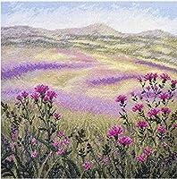 クロスステッチキット 美しい花 家の装飾のための初心者のためのDiyアートクロスステッチキット(11Ctプレプリントキャンバス)40X50Cm
