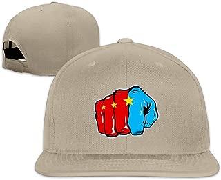 Edongquwe Pound For Pound Manny Pacquiao Game Logo Flat Bill Snapback Adjustable Trucker Caps Black