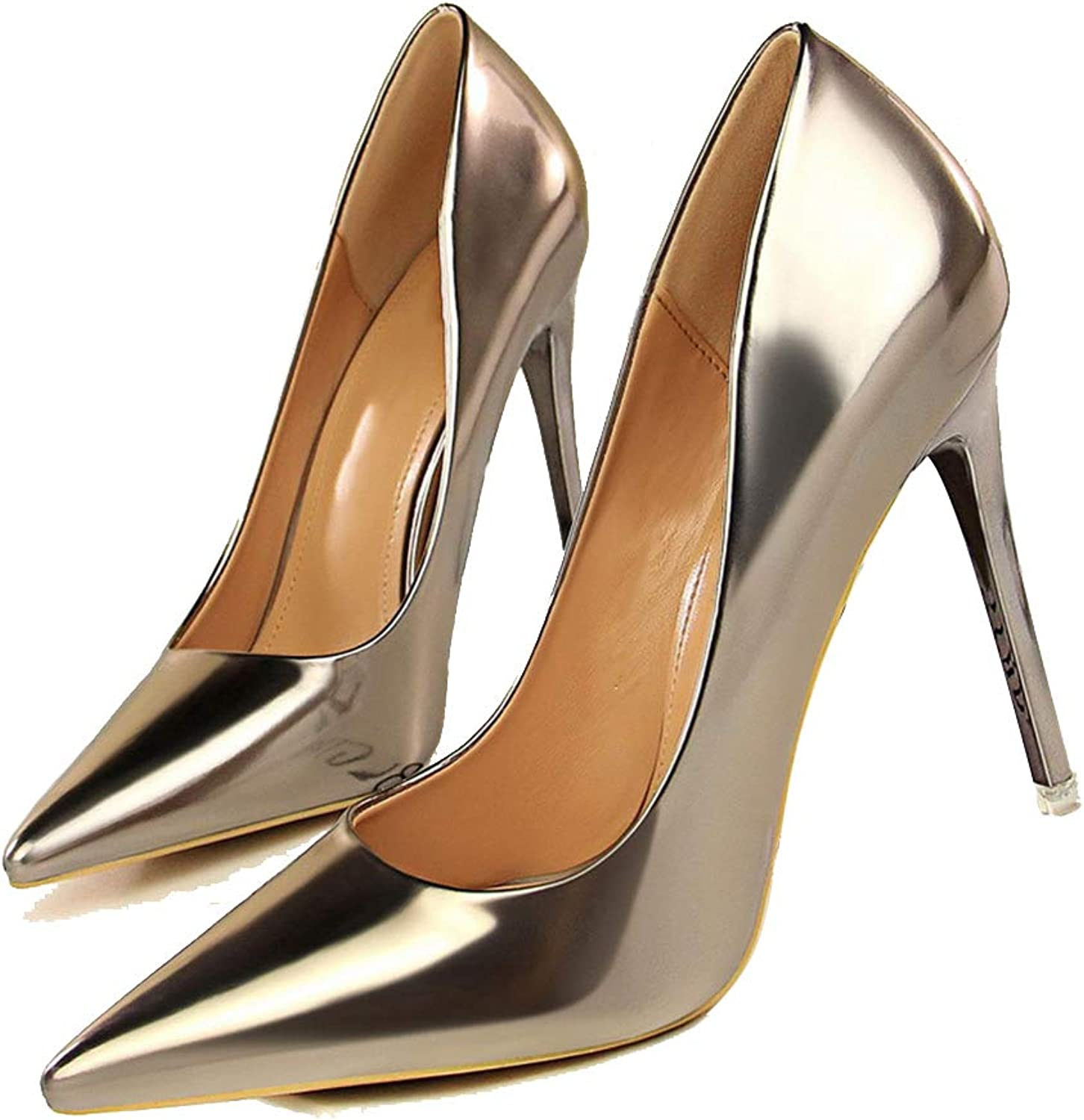 Womens Pumps Shallow Mouth Pointed-Toe Wedding Party Evening Dress High Heels