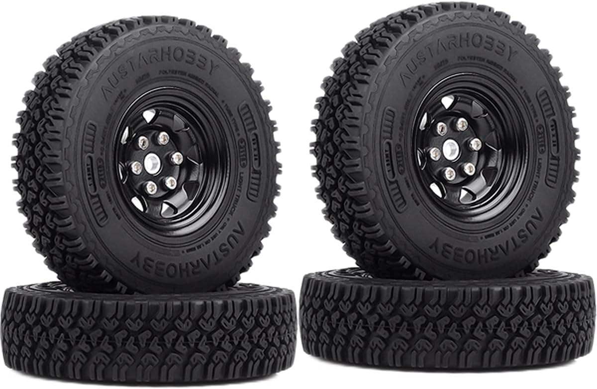 WONFAST Max Award 41% OFF 4PCS Set 1.55 Inch Beadlock Rubber Wheel Rim Metal Tires
