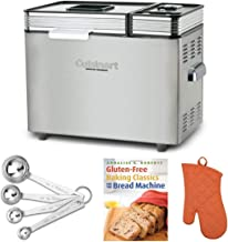 Cuisinart CBK-200 2-Pound Convection Automatic Bread Maker with Gluten-Free Recipe Book, Oven Mitt, and Measuring Spoons B...