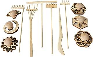 BangBangDa Mini Zen Garden Accessories - Tabletop Zen Garden Tools - Zen Garden Kit Rakes and Zen Stamp for Office Mini Zen Garden Set of 12