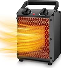 Space Heater - 750W/1500W Portable Electric Heater w/3 Modes & Adjustable Thermostat, Ceramic Space Heater for Office, Home, Indoor Use, Overheat Protection, Quiet, Personal Desktop Fan