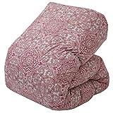 東京 西川 羽毛 布団 ダブル フランスシルバーダックダウン90% 軽量生地 羽毛ふっくら バイオアップ加工 ホコリが出にくい 抗菌 ロイヤルクレセント 幾何学模様 日本製 ピンク KA20003002A1