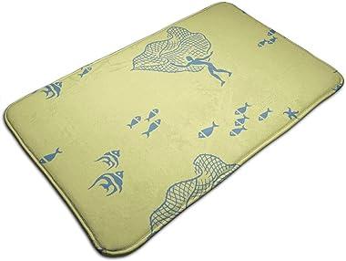 pena Lawai 1a_2341 Personalized Custom Doormats Indoor/Outdoor Doormat Door Mats Non Slip Rubber Kitchen Rugs 23.6 x 15.8 inc