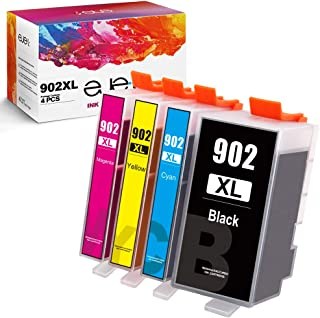 ejet Compatible Ink Cartridge Replacement for HP 902XL 902 XL Ink to use with OfficeJet Pro 6968 6978 6958 6962 6954 6960 6970 6979 6950 Printer(Black, Cyan, Magenta, Yellow, 4 Pack)