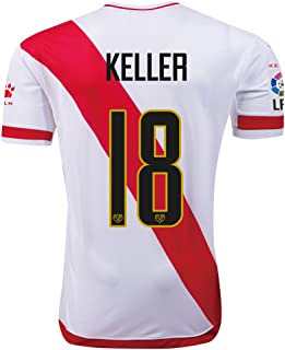 Rayo Vallecano #18 Keller 2015/16 Home Soccer Adult Football Jersey