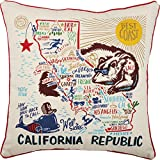 Primitives by Kathy 30515 Home State California Republic Decorative Throw Pillow, 20-Inch Square