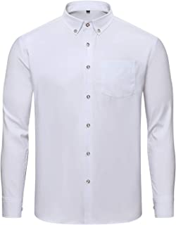 Jeopace Dress Shirts for Men Long Sleeve Big and Tall Button Down Shirts L XL 2XL 3XL 4XL