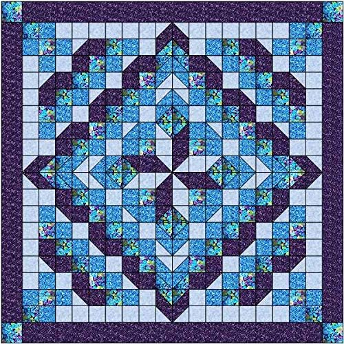 Max 48% Super special price OFF Easy Quilt Kit Faceted Star Purple Expedited Aqua Shipping