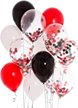 Black Red Pirate Mickey Minnie Confetti Party Balloons 12inch Round Balloon Retirement Baby Shower Wedding Bridal Shower Lumberjack Birthday Party Decorations Favors 40PCS