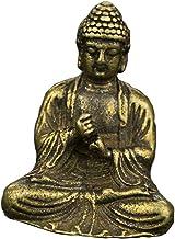 F Fityle Antique Brass Sakyamuni Buddha Statue Ornaments Meditation Sitting - B, as described