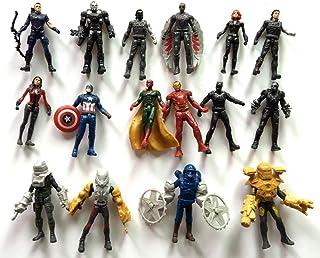 ATII Super Hero Adventures Ultimate Super Hero Set, 16 Figures from Avengers (Avengers 1)