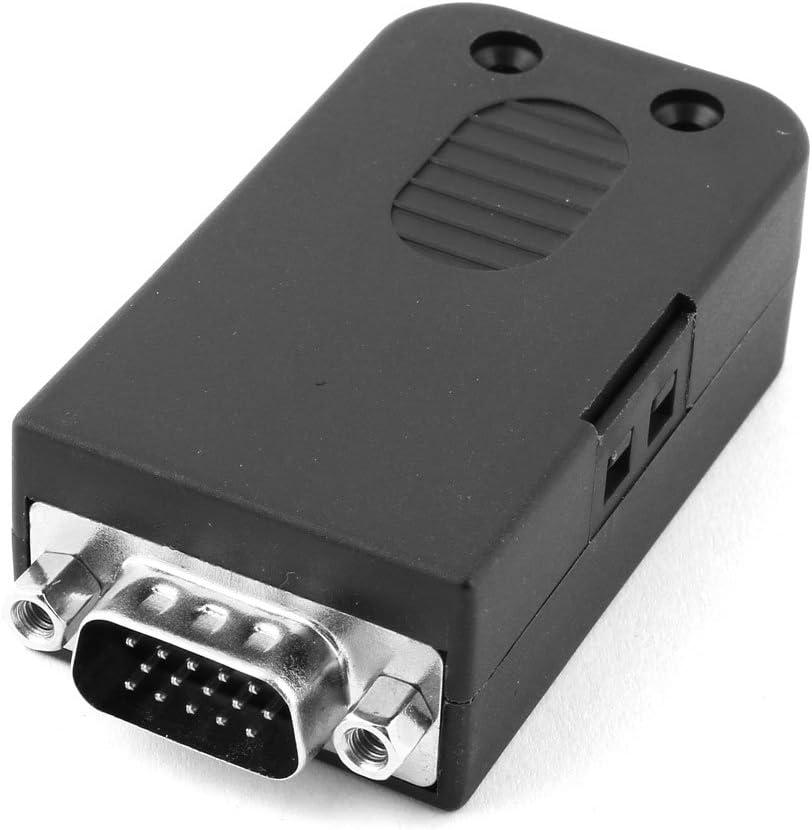 Aexit Plastic DIY Computer Max 88% OFF D-SUB DB15 Brea Cover VGA 15 Pin Finally resale start Male
